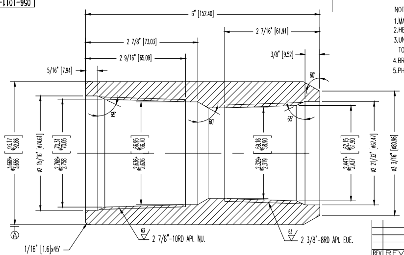 Convert coupling and crossover joint